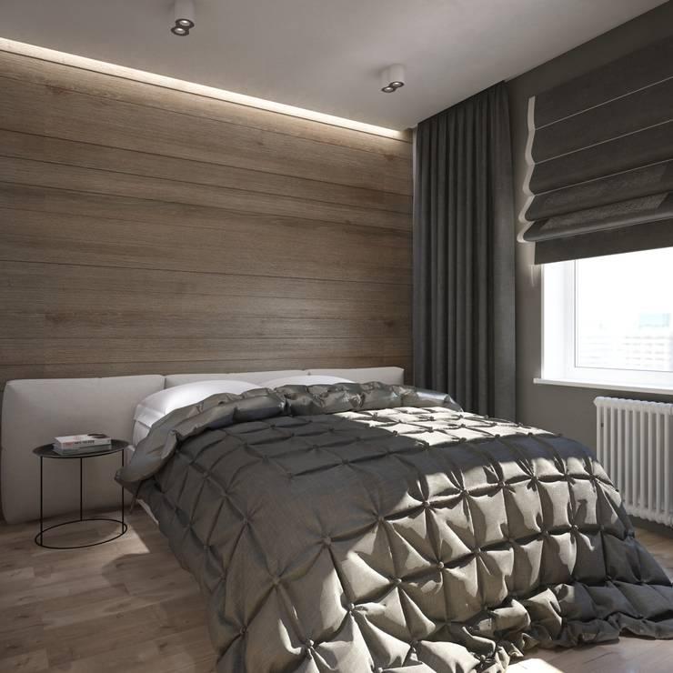 уютный лофт: Спальни в . Автор – Pavel Alekseev