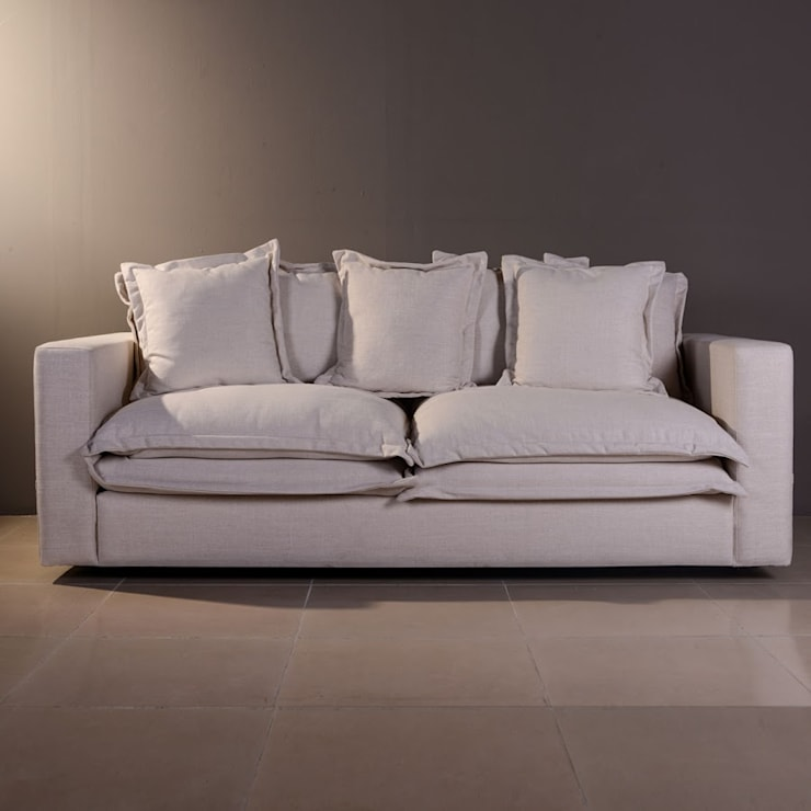 Sofa Ecko Nubia Blanco: Salas de estilo  por mobica