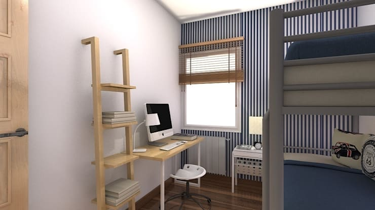Reforma piso de 43m² útiles. : Dormitorios de estilo  de beatriz gala reformas e interiorismo