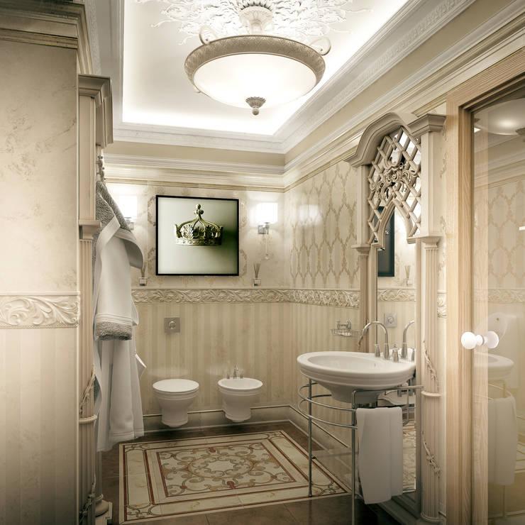 Гостевой санузел. Вид 1: Ванные комнаты в . Автор – Defacto studio, Классический