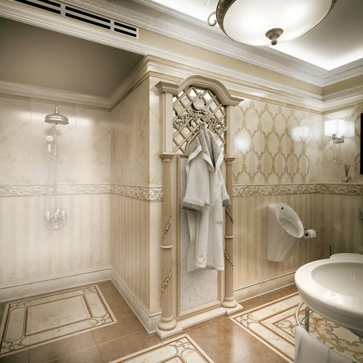 Гостевой санузел. Вид 2: Ванные комнаты в . Автор – Defacto studio, Классический
