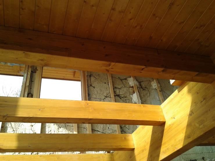 Forjado de madera: Salones de estilo  de CUTECMA Estructuras de madera