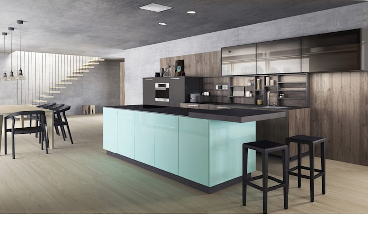 Happiest when the skies are blue:  Kitchen by Alaris London Ltd