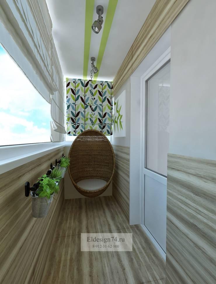 Квартира в Челябинске для молодой девушки  с видом на лес. :  в . Автор – Елена Кокшарова  Eldesign74