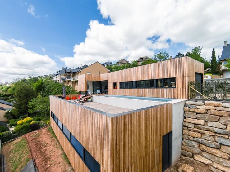 minimalistische Huizen door Hugues TOURNIER Architecte