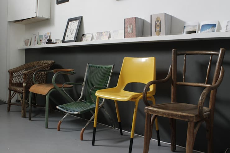 Loft Bordeaux: Couloir et hall d'entrée de style  par Marie Dumora
