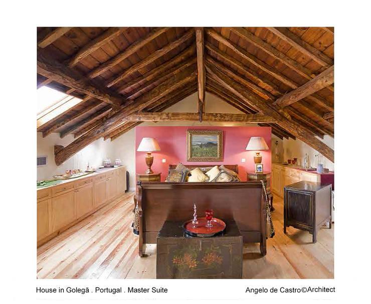 Projekty,  Sypialnia zaprojektowane przez ADeCArquitetura