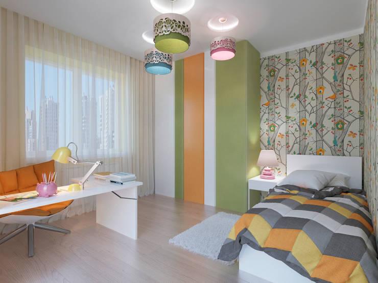 Детская с природными мотивами: визуализация : Детские комнаты в . Автор – OK Interior Design