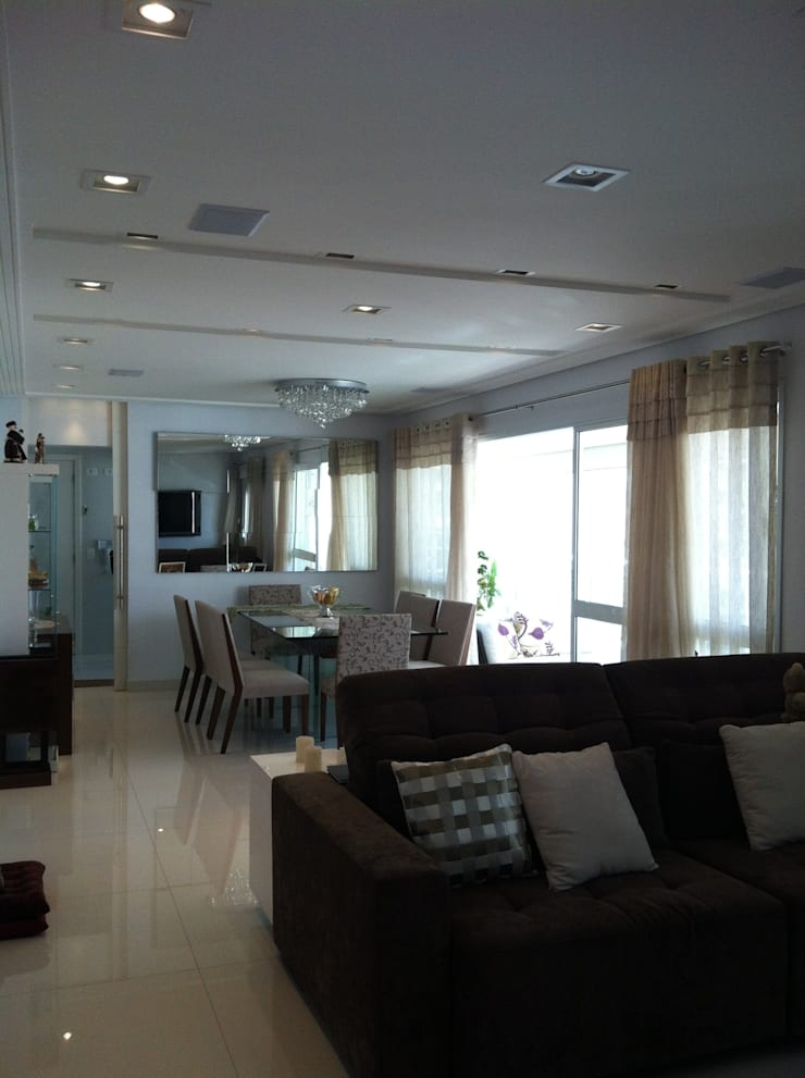 Apartamento Condomínio Central Park – Mooca: Salas de jantar  por Projetual Arquitetura