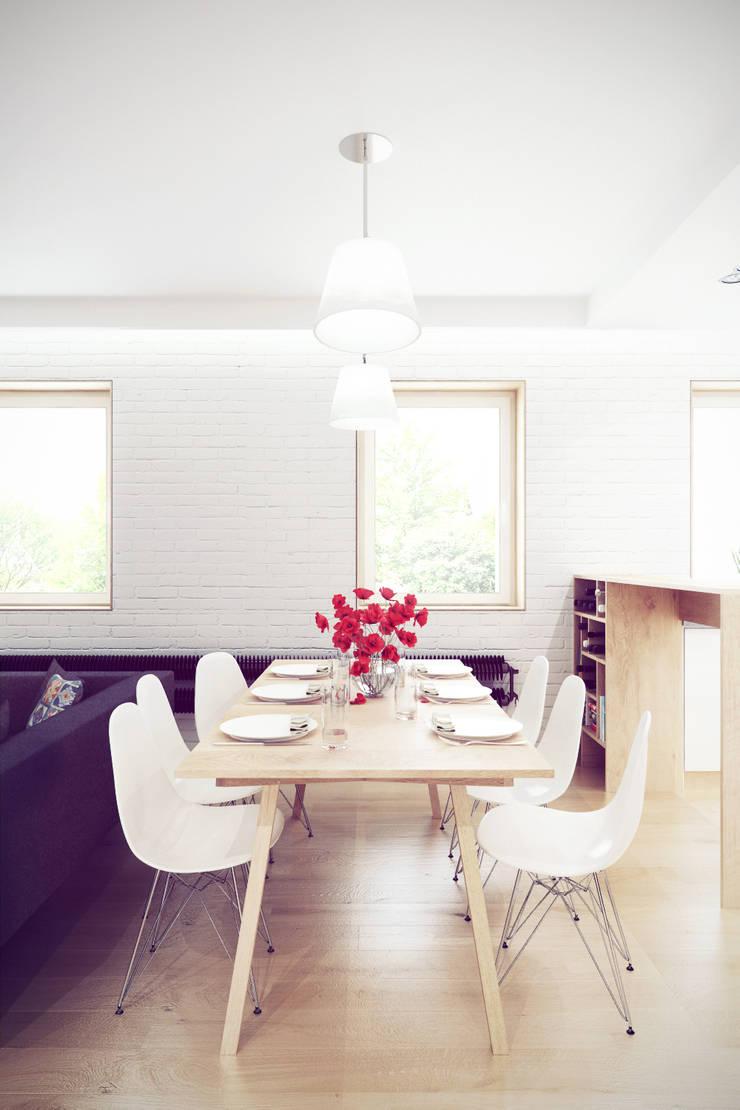 Mieszkanie w centrum Wrocławia: styl , w kategorii Jadalnia zaprojektowany przez COOLDESIGN,