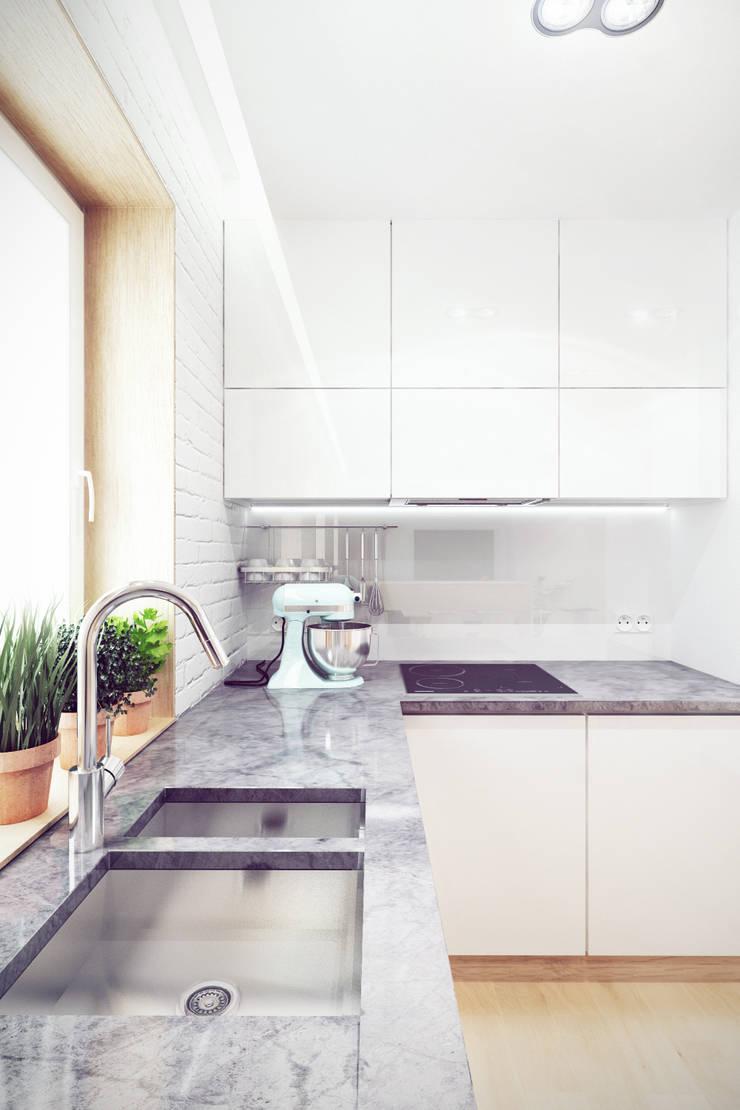 Mieszkanie w centrum Wrocławia: styl , w kategorii Kuchnia zaprojektowany przez COOLDESIGN,