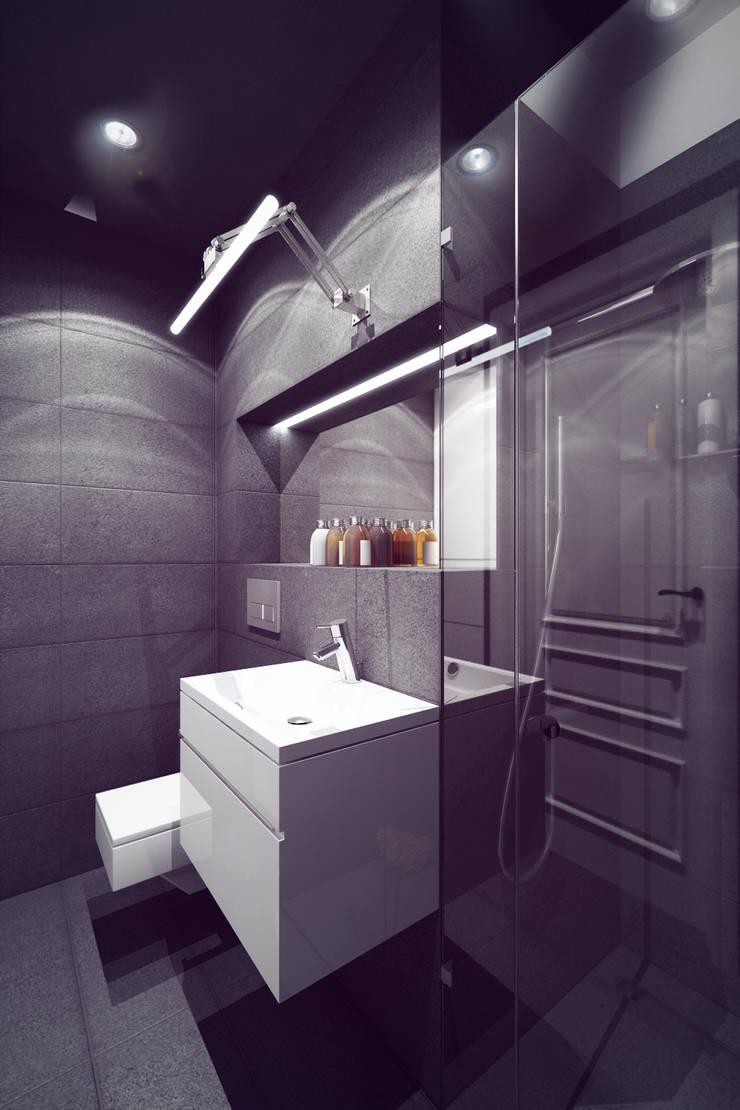 Mieszkanie w centrum Wrocławia: styl , w kategorii Łazienka zaprojektowany przez COOLDESIGN,