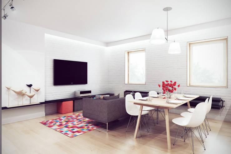 Mieszkanie w centrum Wrocławia: styl , w kategorii Salon zaprojektowany przez COOLDESIGN,