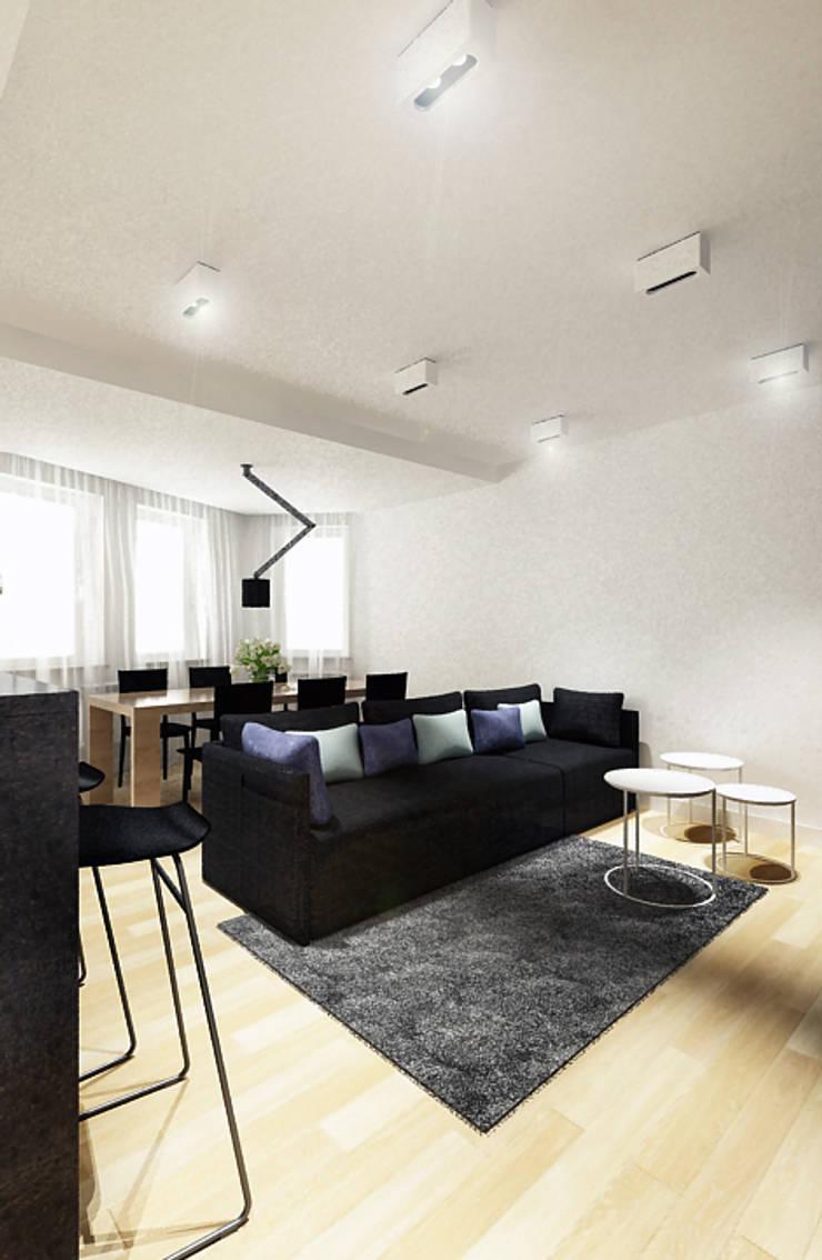 现代客厅設計點子、靈感 & 圖片 根據 COOLDESIGN 現代風