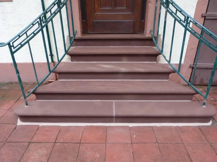 Rénovation d'un escalier:  de style  par PRobst Thomas Tailleur de pierre/Sculpteur