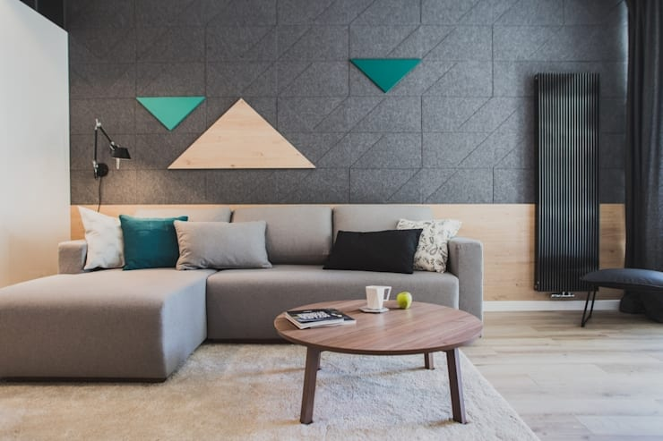 moderne Woonkamer door Raca Architekci