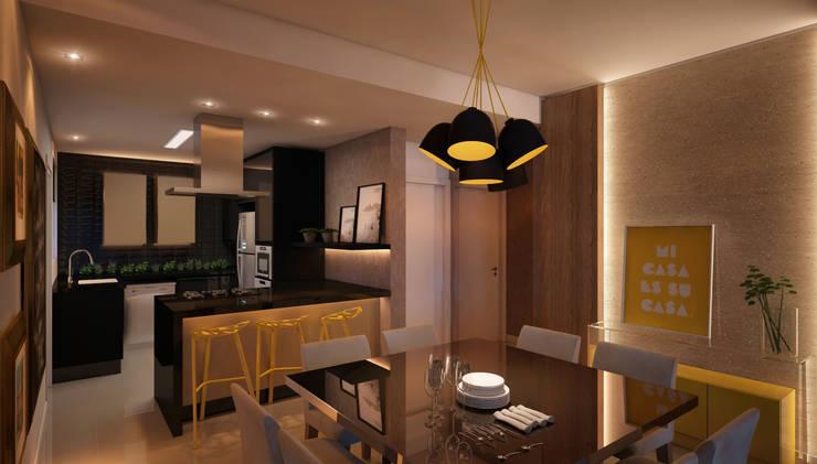 LIVING 05: Salas de estar modernas por CASA DE PROJETOS