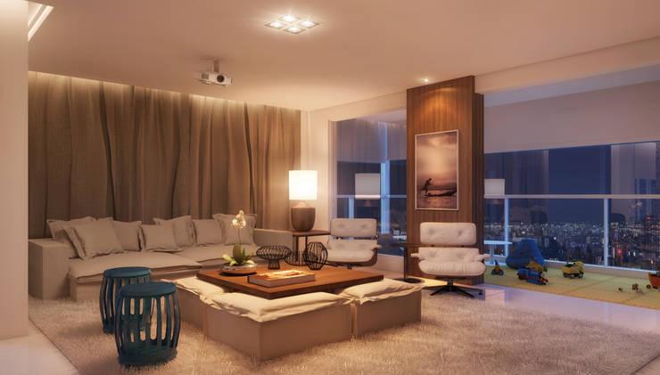LIVING 06: Salas de estar modernas por CASA DE PROJETOS