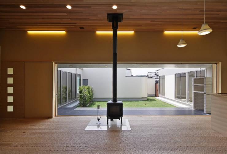 姫路市T邸: 空間工房 用舎行蔵 一級建築士事務所が手掛けたリビングです。