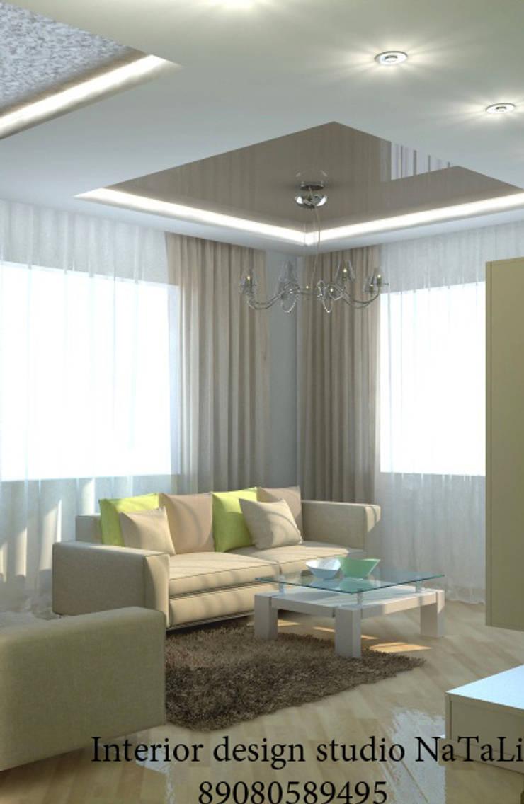 Дизайн квартиры в современном стиле: Гостиная в . Автор – Студия дизайна Натали, Модерн