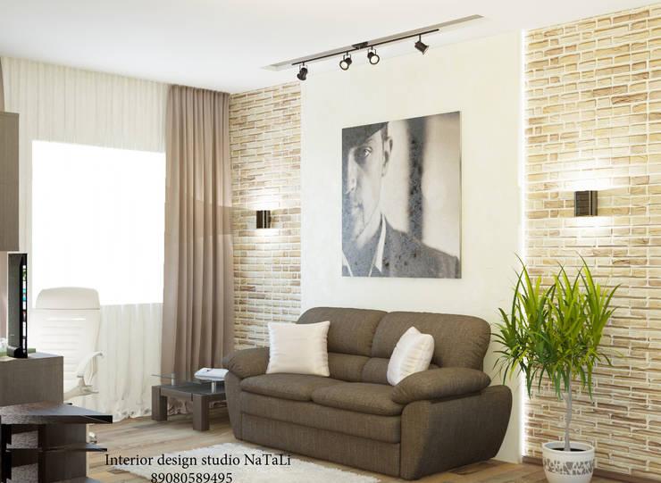 Дизайн квартиры в современном стиле: Рабочие кабинеты в . Автор – Студия дизайна Натали, Модерн