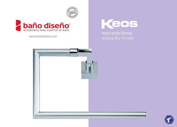 Colección KEOS - accesorios de baño  - Baño Diseño: Baños de estilo  de Baño Diseño