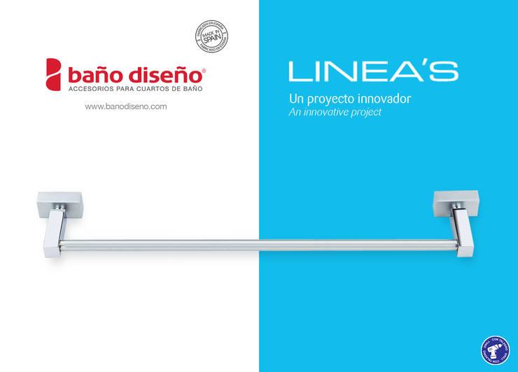 Colección LINEA'S - accesorios de baño - Baño Diseño: Baños de estilo  de Baño Diseño