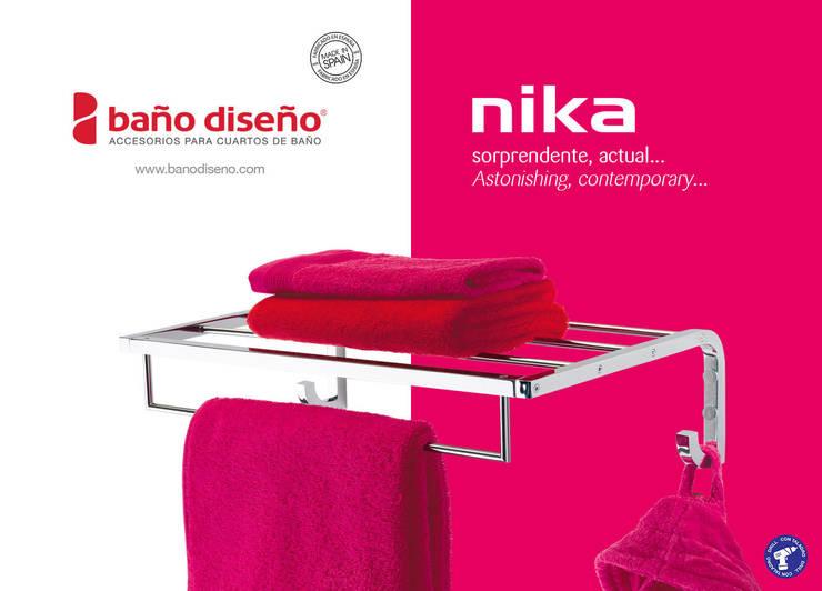 Colección NIKA - accesorios de baño  - Baño Diseño: Baños de estilo  de Baño Diseño