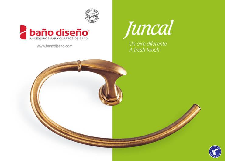 Colección JUNCAL - accesorios de baño  - Baño Diseño: Baños de estilo  de Baño Diseño