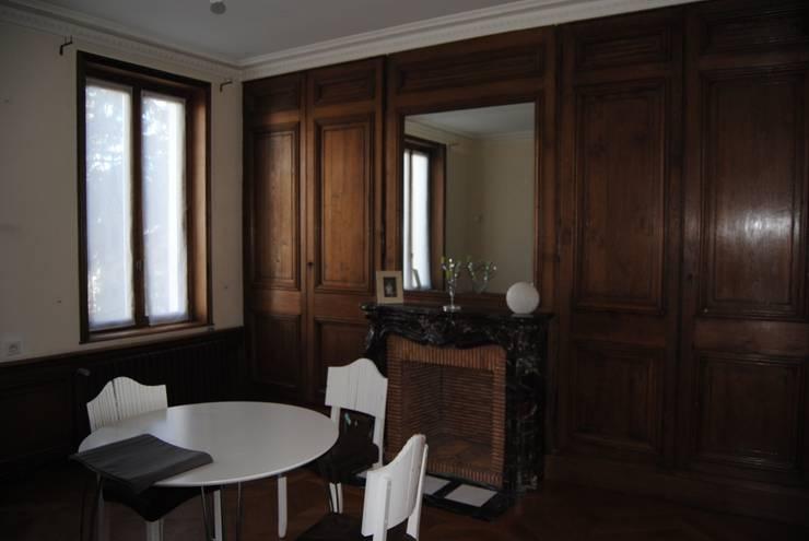 La salle à manger avant les travaux:  de style  par Rouge Amande