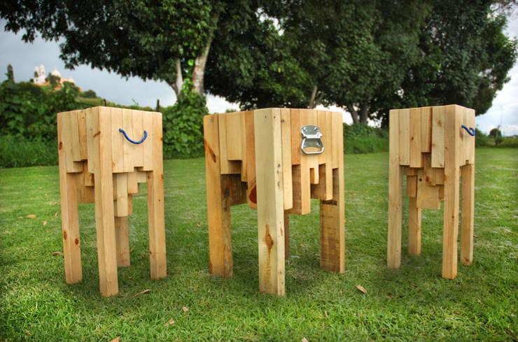 Banco Habanero.: Hogar de estilo  por Habanero Mobiliario