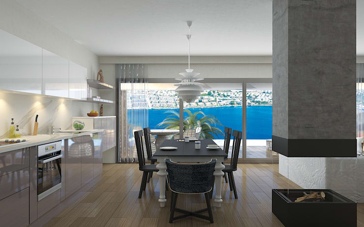 ARTHUR&MILLER – Novo Maison Bodrum:  tarz Mutfak, Modern