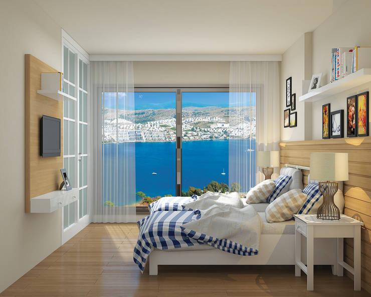 ARTHUR&MILLER – Novo Maison Bodrum:  tarz Yatak Odası, Modern
