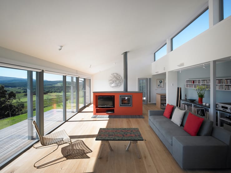 The Houl:  Living room by Simon Winstanley Architects