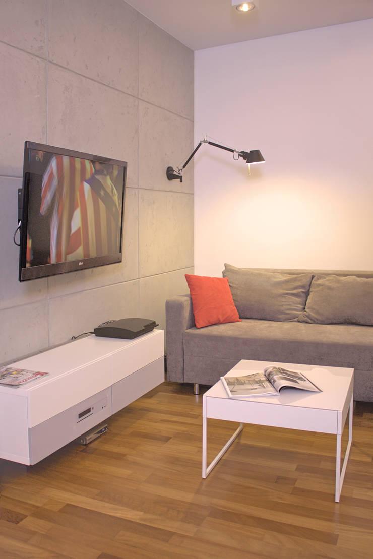Mieszkanie 56 m² w Ząbkach pod Warszawą / Salon: styl , w kategorii Salon zaprojektowany przez Sceneria