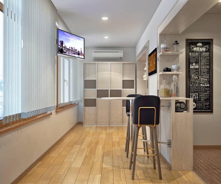 Гостиная в типовой квартире: Гостиная в . Автор – Sweet Home Design