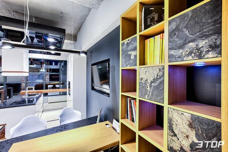 Meble na wymiar – studio mebli i projektowania wnętrz Marki-Warszawa: styl , w kategorii Domowe biuro i gabinet zaprojektowany przez 3TOP