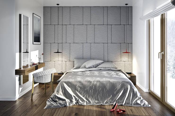 PROJEKT DOMU W LUBLINIE: styl , w kategorii Sypialnia zaprojektowany przez Kunkiewicz Architekci
