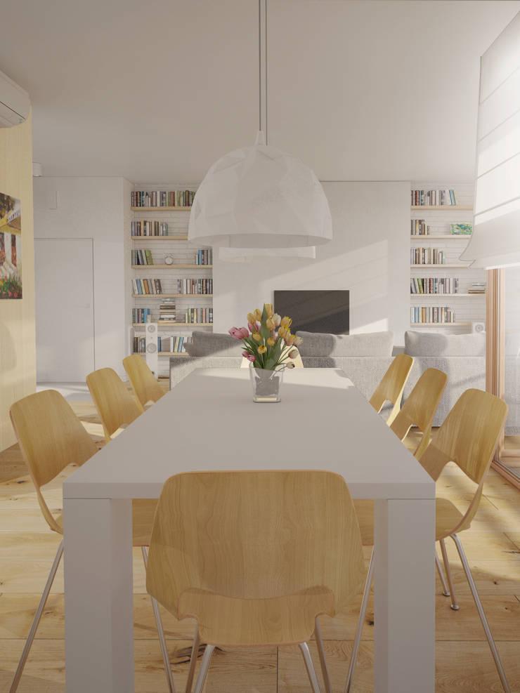 APARTAMENT WILANOWSKA: styl , w kategorii Jadalnia zaprojektowany przez Kunkiewicz Architekci