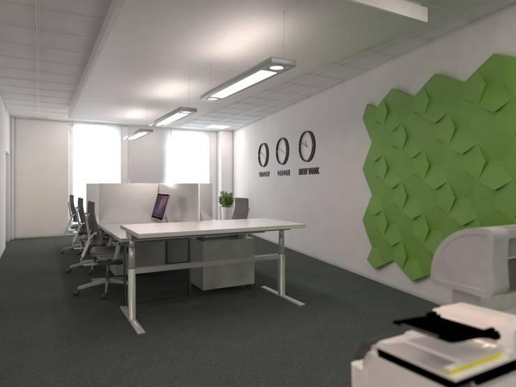 BIURA FIRMY PD CO SP. Z O.O.: styl , w kategorii Przestrzenie biurowe i magazynowe zaprojektowany przez Kunkiewicz Architekci