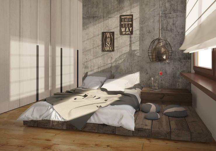 APARTAMENT WILANOWSKA: styl , w kategorii Sypialnia zaprojektowany przez Kunkiewicz Architekci