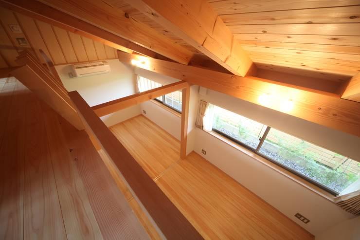 個室&ロフト: 青木昌則建築研究所が手掛けた子供部屋です。