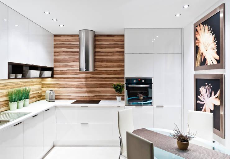II Realizacja kuchenna na Osiedlu Apartamenty Generalska w Opolu: styl , w kategorii Kuchnia zaprojektowany przez Meble Ideal