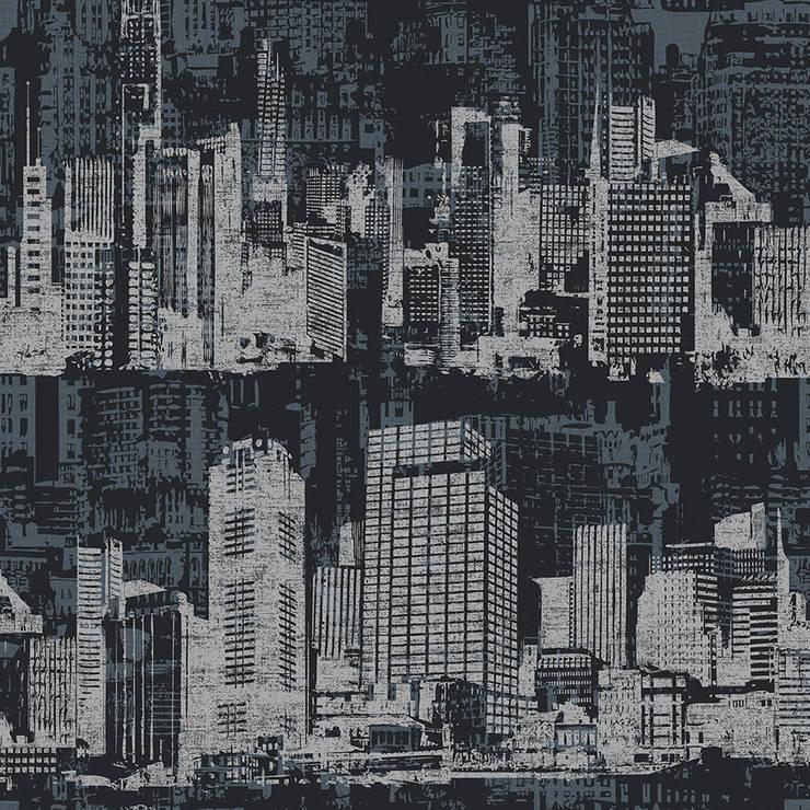 DEKOROS – GRİ MODERN DUVAR KAĞITLARI:  tarz İç Dekorasyon