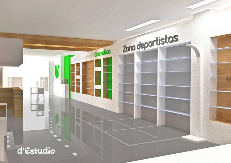 Farmacia en Burriana | Zona Deportistas: Espacios comerciales de estilo  de d'Estudio