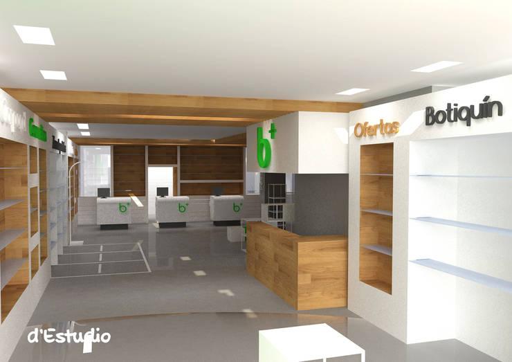 Farmacia en Burriana | Vista desde Entrada: Espacios comerciales de estilo  de d'Estudio