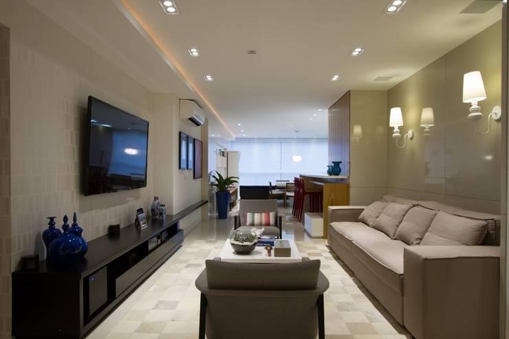 Apartamento Jacob : Salas de estar modernas por Estúdio Kza Arquitetura e Interiores