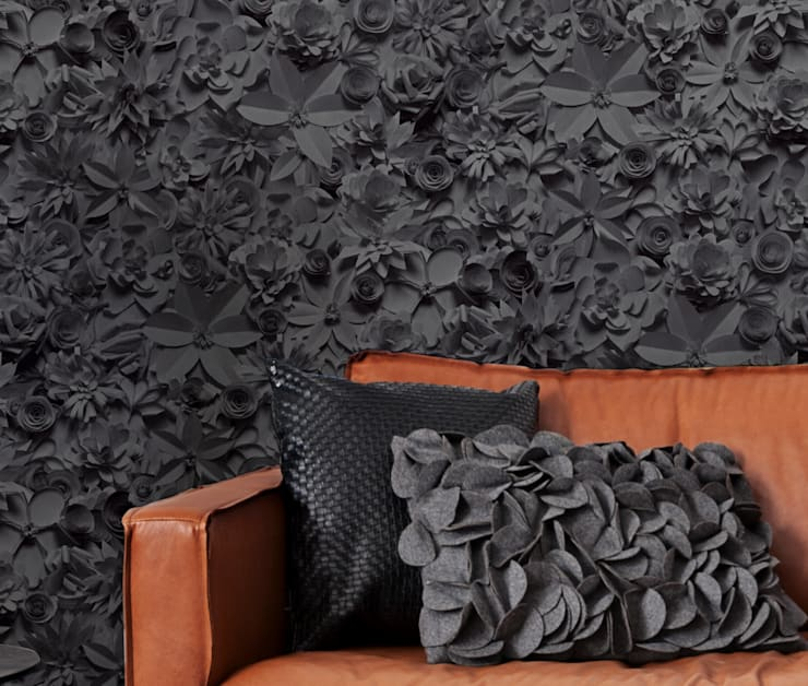 Tapete 3D-Blossoms:  Wände & Boden von Tapeten der 70er