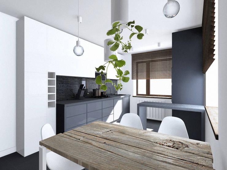 Projekt wnętrza części domu 200 m2 pod Bochnią: styl , w kategorii Kuchnia zaprojektowany przez Lidia Sarad