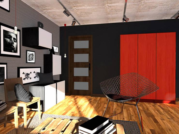 Projekt wnętrza części domu 200 m2 pod Bochnią: styl , w kategorii Domowe biuro i gabinet zaprojektowany przez Lidia Sarad